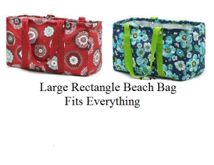 square beach bag