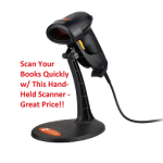 hand-held scanner for books